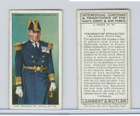 L8-55 Lambert, Interesting Customs, 1939, #1 Epaulettes