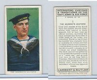 L8-55 Lambert, Interesting Customs, 1939, #2 Seaman's Uniform