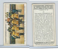 L8-55 Lambert, Interesting Customs, 1939, #22 Household Cavalry