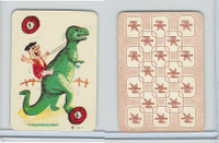 1967 Ed-U Cards, Flintstones Mini Card, #1 Tyrannosaurus, Red
