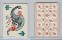 1967 Ed-U Cards, Flintstones Mini Card, #3 Brontosaurus, Blue