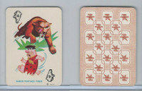 1967 Ed-U Cards, Flintstones Mini Card, #4 Saber-Toothed Tiger, White