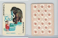 1967 Ed-U Cards, Flintstones Mini Card, # Joker, Woolly Mammoth