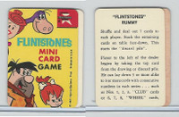 1967 Ed-U Cards, Flintstones Mini Card, # Title Card & Rules