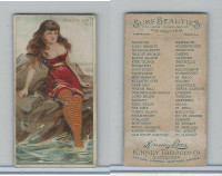 N232 Kinney, Surf Beauties, 1889, Atlantic City, New Jersey