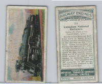 C30 Imperial Tobacco, Railway Engines, 1923, #25 Canadian National