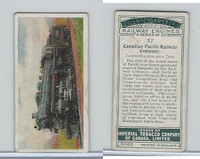 C30 Imperial Tobacco, Railway Engines, 1923, #27 Canadian Pacific