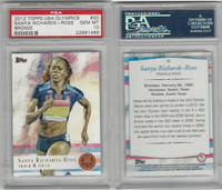 2012 Topps, USA Olympics, #30 Sanya Richards-Ross, PSA 10 Gem