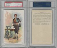 H639 Singer Sewing, Costumes of all Nations, 1892, Bosnia, PSA 6 EXMT