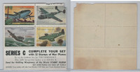 F Card Heckers Oats, War Plane Stamps, 1950's, Series C, Mustang..