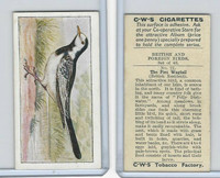 C130-24 CWS, British & Foreign Birds, 1938, #21 Pied Wagtail