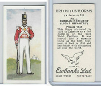 E0-0 Ewbanks, British Uniforms, 1957, #1 Durham Regiment