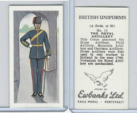 E0-0 Ewbanks, British Uniforms, 1957, #11 The Royal Artillery