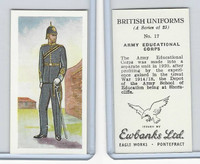 E0-0 Ewbanks, British Uniforms, 1957, #17 Army Educational Corps