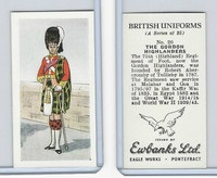 E0-0 Ewbanks, British Uniforms, 1957, #20 The Gordon Highlanders