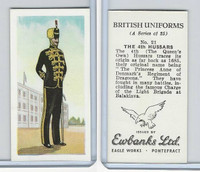 E0-0 Ewbanks, British Uniforms, 1957, #21 The 4th Hussars