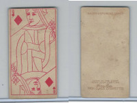 N233 Kinney, Transparent Playing Cards, 1888, Diamond Queen