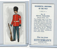 H0-0 Hitchman, Regimental Uniforms, 1973, #13 Royal Fusiliers