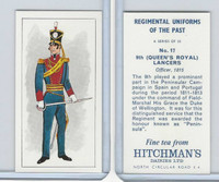H0-0 Hitchman, Regimental Uniforms, 1973, #17 9th (Queen's Royal) Lancers