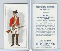H0-0 Hitchman, Regimental Uniforms, 1973, #18 9th (Queen's Royal) Lancers