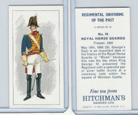 H0-0 Hitchman, Regimental Uniforms, 1973, #19 Royal Horse Guards