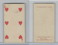 N233 Kinney, Transparent Playing Cards, 1888, Heart 6