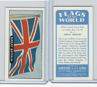 L0-0 Lipton Tea, Flags of the World, 1966, #1 Great Britain