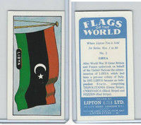 L0-0 Lipton Tea, Flags of the World, 1966, #2 Libya