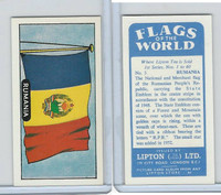 L0-0 Lipton Tea, Flags of the World, 1966, #3 Rumania
