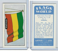 L0-0 Lipton Tea, Flags of the World, 1966, #11 Ethiopia
