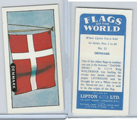 L0-0 Lipton Tea, Flags of the World, 1966, #12 Denmark