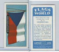 L0-0 Lipton Tea, Flags of the World, 1966, #14 Czechoslovakia