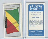 L0-0 Lipton Tea, Flags of the World, 1966, #19 Congo Republic