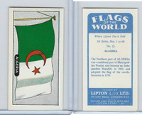 L0-0 Lipton Tea, Flags of the World, 1966, #21 Algeria