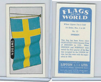 L0-0 Lipton Tea, Flags of the World, 1966, #22 Sweden