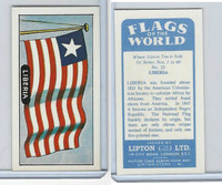 L0-0 Lipton Tea, Flags of the World, 1966, #25 Liberia