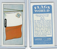 L0-0 Lipton Tea, Flags of the World, 1966, #27 Malta