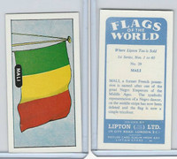L0-0 Lipton Tea, Flags of the World, 1966, #29 Mali