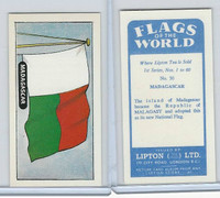 L0-0 Lipton Tea, Flags of the World, 1966, #30 Madagascar