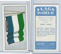 L0-0 Lipton Tea, Flags of the World, 1966, #32 Sierra Leone
