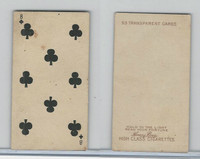 N233 Kinney, Transparent Playing Cards, 1888, Club 8