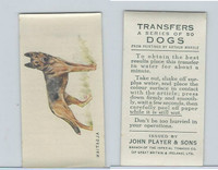 P72-91B Players - Transfers, Dogs, 1931, Alsatian