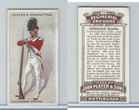 P72-47 Player, Regimental Uniforms, 1913, #52 Coldstream Guards Light Inf, 1793