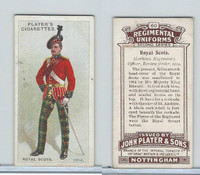 P72-47 Player, Regimental Uniforms, 1913, #60 Royal Scots Officer, Review 1914