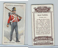P72-47 Player, Regimental Uniforms, 1913, #65 Royal Fusiliers.  Private, 1811