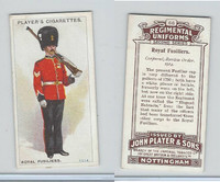 P72-47 Player, Regimental Uniforms, 1913, #66 Royal Fusiliers.  Corporal,  1914