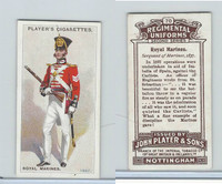 P72-47 Player, Regimental Uniforms, 1913, #70 Royal Marines Sergeant Marine 1837