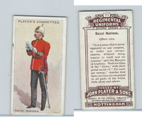 P72-47 Player, Regimental Uniforms, 1913, #71 Royal Marines. Officer, 1914