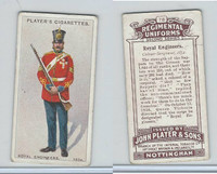 P72-47 Player, Regimental Uniforms, 1913, #78 Royal Engineers Colour-Sgt., 1854