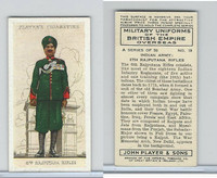 P72-168 Player, Military Un. British EO, 1938, #19 India 6th Rajputana Rifles